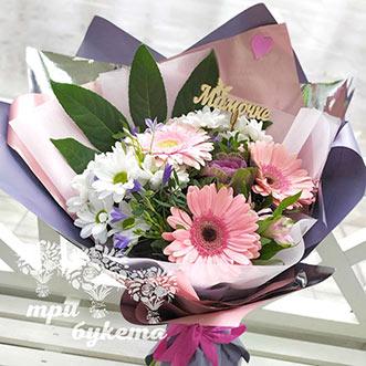 Герберы и хризантемы для мамы